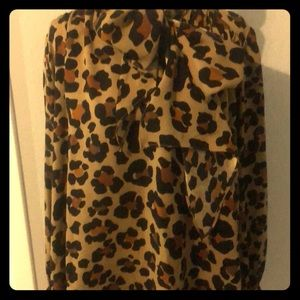 Judith March- animal print boutique blouse